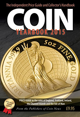 Front cover featuring Britannia coin design on Coin Yearbook 2015