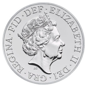 HRH Queen Elizabeth II coin design on UK circulation coin