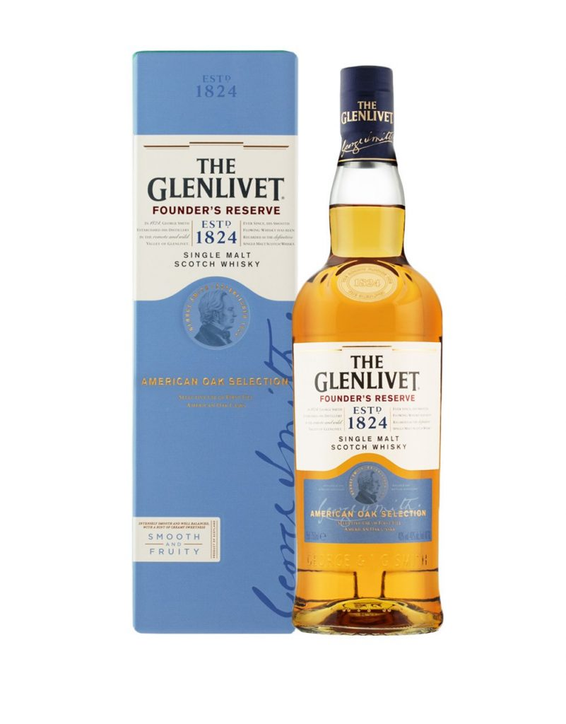 Glenlivet illustration portrait bu Jody Clark on all packaging